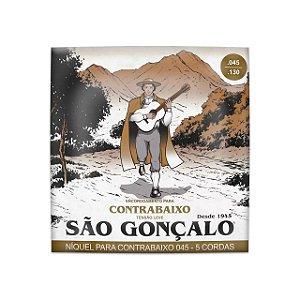 Encord. Sao Goncalo Baixo 045 Niquel P/baixo 5 CORDAS Leve