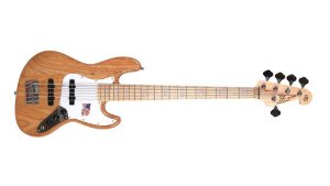 Contra Baixo SX Sjb755 5c Jazz Bass Passivo Ash Natural