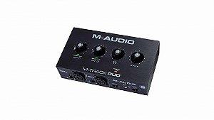 Interface M-AUDIO Phantom Power 2 Canais USB M-Track DUO