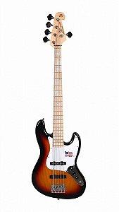 Contra Baixo SX Sjb755 5c Jazz Bass Passivo Corpo Ash 3TS