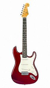GUITARRA SX VINTAGE SST62 CANDY APPLE RED
