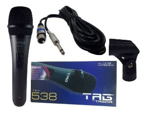 Microfone Tag Sound By Tagima Tm-538 Cabo+suporte+estojo