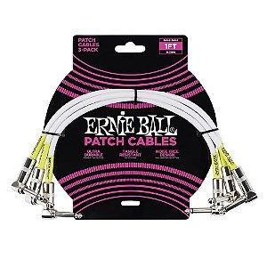 Cabo para Pedal Ernie Ball Plug L com 3 unid P06055 30 cm