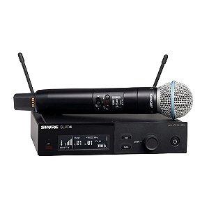 Microfone Shure sem fio Dinâmico Cardióide SLXD24/B58-G58