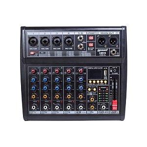 Mesa de Som Lexsen 6 Canais LMC6 com Interface e Bluetooth