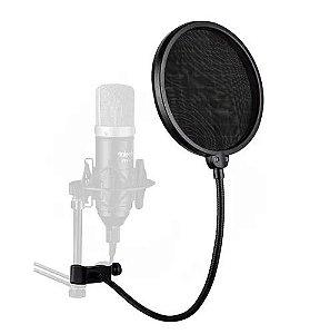 Pop SMART Filter Tela Anti Sopro Microfone Haste Flexível