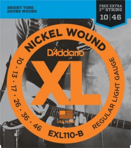 ENCORDOAMENTO DADDARIO  GUITARRA EXL110-B + MI EXTRA