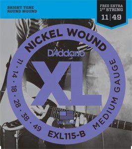 ENCORDOAMENTO DADDARIO GUITARRA EXL115-B + MI EXTRA