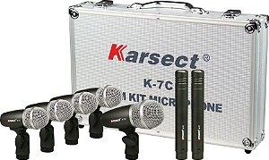 MICROFONE KARSECT KIT P/ BATERIA 7PCS