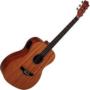 NM-Violao eletro acustico BABY MAHOGANY - marca Tagima - cordas aco (NM (Natural