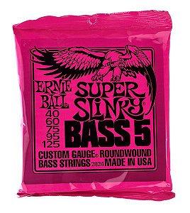 ENCORDOAMENTO  ERNIE BALL 040-125 BAIXO 5 CORDAS SUPER SLINKY NIQUEL 2824