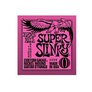 ENCORDOAMENTO  ERNIE BALL GUIT.009 SUPER SLINKY  2223
