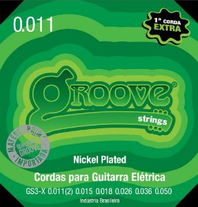 ENCORDOAMENTO  GROOVE GUITARRA 0.011 NPS 8% GS3X -