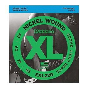 ENCORD. DADDARIO BAIXO 4 CORDAS EXL220 040