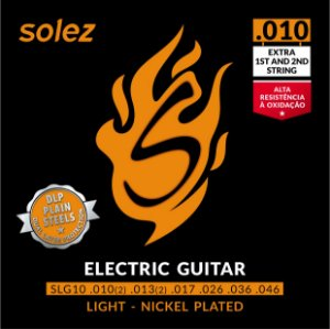 ENCORDOAMENTO SOLEZ GUITARRA 0.010 SLG10