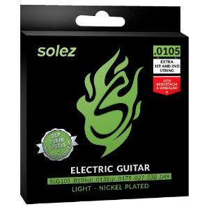 "ENCORDOAMENTO SOLEZ GUITARRA 0.0105"" - SLG105 -"