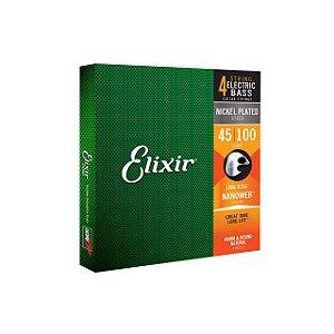 ENCORDOAMENTO 4 CORDAS ELIXIR BAIXO 045 NANOWEB 14052