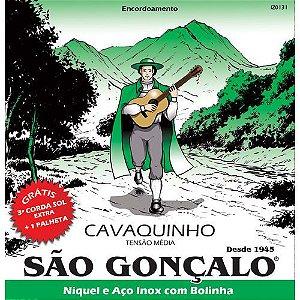 ENCORD. SAO GONCALO CORDA P/CAVACO NIQUEL C/BOLINHA T. MEDIA
