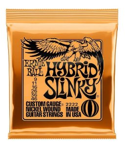 ENCORDOAMENTO CORDA ERNIE BALL GUITARRA 009 HYBRID 2222