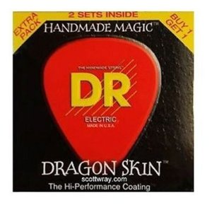 ENCORD.DR DRAGON SKIN GUITARRA 010 PCT C/ 2 DSE2-10