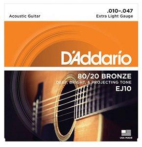 ENCORD.DADDARIO VIOLAO AÇO 0.10 EJ10