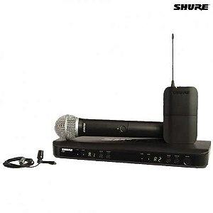 SISTEMA SHURE MICROFONE S/FIO BLX1288BR/CVL-M15