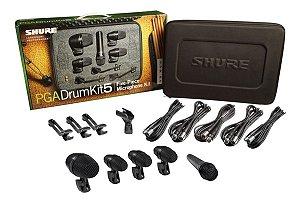 Kit De Microfone Para Bateria Pga-drum-kit5 (5 Peças) Shure