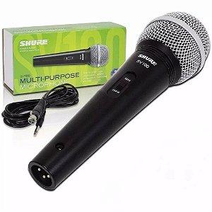 Microfone Shure Vocal C/ Fio Sv100 | 2 Anos Garantia