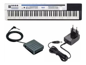 PIANO CASIO PRIVIA DIGITA BRANCO PX 5S 88 TECLAS PEDAL FONTE