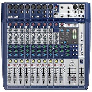 Mesa Som Soundcraft Signature 12 Canais - Mixer