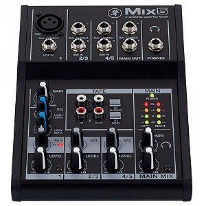 MESA DE SOM MACKIE MIX5 - 5 CHS - PROMOÇÃO
