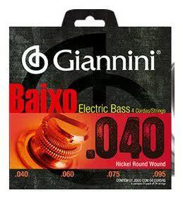 ENCORDOAMENTO P/ BAIXO GIANNINI Geebrl- 0.040 LEVE NIQUEL