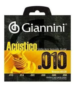ENCORDOAMENTO P/ VIOLAO GIANNINI GESWAM BRONZE 65/35 0.010