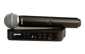 Microfone Shure Sistema S/fio Blx24/PG58 - Cardioide Br J10
