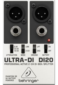 Direct Box Behringer DI-20 Ativo 2 Canais Ultra-di Di20