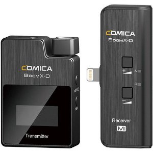 Sistema Microfone S Fio p/ Lapela Comica Boomx-d Uc1 Iphone