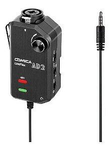 Interface Pré-amp Comica Linkflex Ad-2 P3 3,5mm P/smartphone