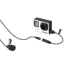 Microfone lapela Comica Cvm-V01Cp p/ Gopro Hero - cabo 4.5M