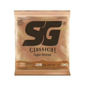ENCORDOAMENTO SG VIOLAO NYLON BRONZE PRATA TENSAO MEDIA 6682