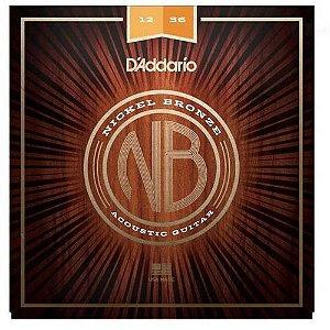 ENCORDOAMENTO DADDARIO VIOLAO ACO 012 NB1256