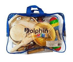 Bandinha Infantil 10 Instrumentos C/Bolsa Dolphin Kids