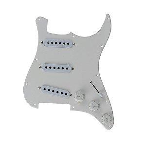 Escudo Guitarra Branco 3 Camadas Strato e 3 Captadores SSS 3