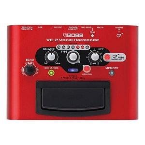 Pedal Boss Vocal Processor Ve2 Vermelho