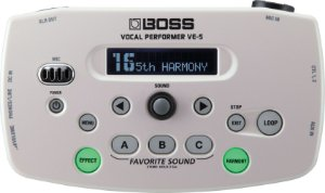 Pedal Boss Vocal Ve5 Processor Para Voz Ve-5 Branco