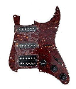 Escudo Condor Tortoise P/ Guitarra C/Captador Preto HSS