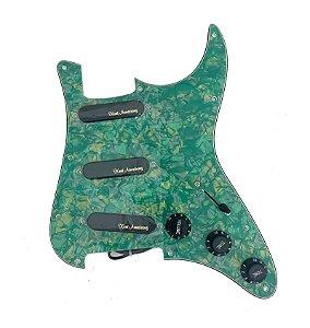 Escudo Condor Guitarra Madreperola Verde Captador Preto SSS