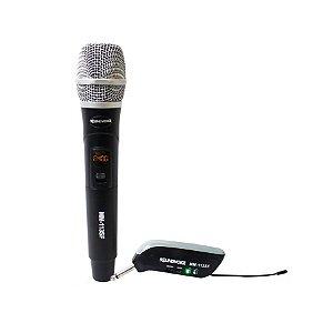 Microfone Sem Fio Digital 25 Freq Receptor Livre Soundvoice