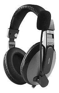 Fone De Ouvido Headset Gamer Targa Ph 350 Preto Com Espuma