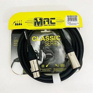 Cabo p/ Microfone MAC Classic XLR/XLR MC10XB 3.05M
