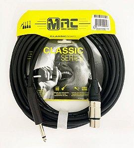 Cabo p/ Microfone MAC Classic XLR/P10 MC25PB 7.62M
